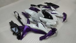 Argentina Carenados de color blanco púrpura para 2008 2009 SUZUKI GSXR600 750 Carrocería GSXR 600 GSXR750 K8 08 09 Kit de carenado de molde de inyección + regalos SE55 cheap gsxr k8 kit Suministro