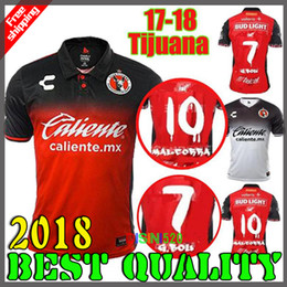 Wholesale Corona Black - 2018 Best Quality Tijuana Home Soccer Jerseys 17 18 Mexico Club Xolos de Tijuana away CORONA LUCERO MALCORRA KALINSKI men football shirts
