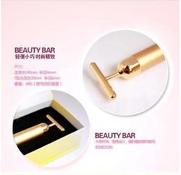 Wholesale Beauty Bar Massager - Technology From Japan 24K Beauty Bar Golden Derma Roller Energy Face Massager Beauty Care Vibration Facial Massage Electric