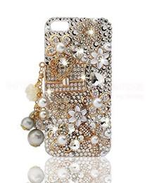 Wholesale Diamond Rhinestone Iphone5 Case - HOT Bling Luxury 3D Diamonds Crystal Bag Full Rhinestone Hard Case Cover For Apple iPhone5 5S SE  iPhone6 6S  iPhone6 6S Plus iPhone7 7 Plus