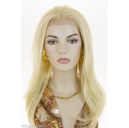 Wholesale White Women Human Hair Wigs - 7A grade blond full lace human hair wigs #613 peruvian human hair front lace wigs blond hair wigs 130%density for white women