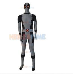 Wholesale Custom Deadpool - Black & Grey New Custom Deadpool Superhero Costume spandex Deadpool Costume free shipping