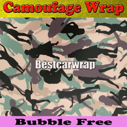 Wholesale Girl Car Body Stickers - SNOW GIRL CAMOUFLAGE Vinyl wrap Urban Snow Morning Wood Camo Vinyl Sheet Car Wrap Skin Vehicle camo styling graphic 5ft x 98ft