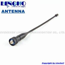 Wholesale Dualband Vhf - Wholesale-10 pcs Handheld walkie talkie uhf vhf dualband wouxun baofeng replacement antenna, sma flaxible antenna