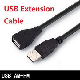 2019 transfert de câble Câble d'extension USB USB 2.0 mâle à femelle 1.5m 3m 5m Extendeur de transfert de synchronisation de données Câble de rallonge USB promotion transfert de câble