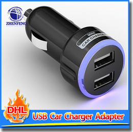 Wholesale Digital Power Universal - 2.1A 2-Port USB Car Charger LED Power Adapter For Mobile Phone Samsung Galaxy For PC Digital Camera