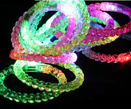 Wholesale Light Up Bracelets Free Shipping - Free Shipping 50PCS LOT Color Changing Card Packing LED Bracelet Light Up Bracelet Luminous Bracelet Christmas YH013