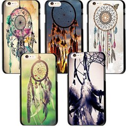 Wholesale Sunset Cover For Iphone - Wholesale-Unique Sunset Dream Catcher Butterfly Style Case Cover For iphone 6  6 Plus
