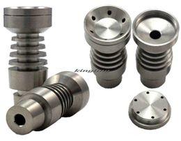 Wholesale Titanium Nail Infinity - Universal Infinity Domeless Titanium Nail 14.5mm & 18.8mm Adjustable Male or Female Oil Gr2 vs Ceramic Nails Tools