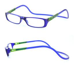 Wholesale Reading Glasses Strengths - 2017 New Bi-color Folding Magnetic Reading Glasses Women Men Plastic Eyeglasses Frame clear gafas oculos degree Reading Glasses