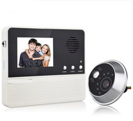 Wholesale Cheap Doors Free Shipping - Cheap Fashion household VIVideo interphone visual LED doorbell 2.8 inch color monitor the door 32 songs free shipping 1pcs