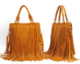 Wholesale Fold Over Purse - 2015 High Quality Fringe Convertible Crossbody bag Fold Over Fringe Tote cross body purses Free Fipping