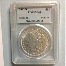 Wholesale Pcgs Box - HOT SELLING PCGS 1893-S AU50  F15 VF30 XF40 XF45 Genuine One Dollar Morgan Dollar coin FREE SHIPPING