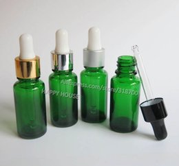 Wholesale Green Glass Dropper Bottles 15ml - Free shipping - 360 x 15ml Boston Round Glass Bottles with Dropper,15cc Empty Green Glass Essential Oil Dropper Bottle