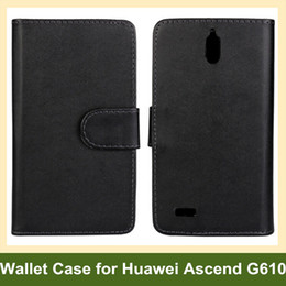 Wholesale Huawei Ascend Phone Cases - Wholesale For Huawei Ascend G610 Case PU Leather Flip Cover Phone Case for Huawei Ascend G610 Free Shipping