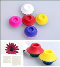 Wholesale Ego Battery Silicone Sucker Holder - Ego Silicone Sucker Stand Base Holder for Vapor Tanks and Battery Vaporizer Pens Ekiss Assorted Colors