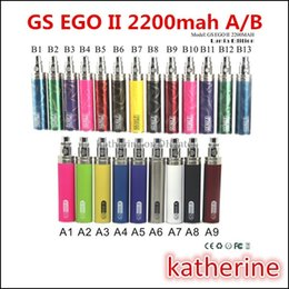Wholesale Ego B - EGO II 2 Battery 2200mAh Electronic Cigarette GS EGO II 2200mah B Series Battery Lumia Edition 510 Thread E Cigarette New Design 13 Colors