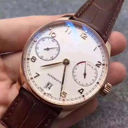 Wholesale C Strap Men - watches men luxury brand I W C 42mm Automatic No battery watch Small dial work sweeping movement replicas AAA Watch model Leather strap 03