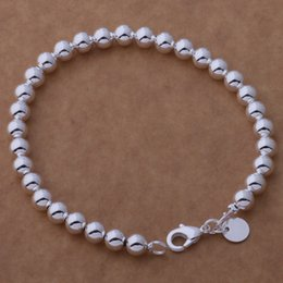 Wholesale Cheap 925 Silver Bracelet - Free Shipping with tracking number Top Sale 925 Silver Bracelet 6M hollow beads Bracelet Silver Jewelry 20Pcs lot cheap 1599