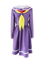 Wholesale Sailor S Uniform - NEW Free Shipping NO GAME NO LIFE Cosplay Shiro Costume School Uniforms Sailor Dress Suit for party and halloween