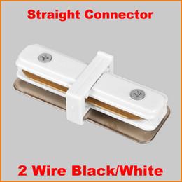 circuit tracks Australia - 2 Wire 1 Circuit Phase LED Track light rail connector track lighting fitting T track rail connector aluminum track accessories Black White