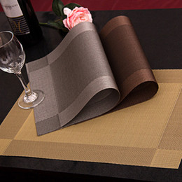 Wholesale Dining Table Pvc Cloth - 4 Pcs lot Placemat fashion pvc dining table mat disc pads bowl pad coasters waterproof table cloth pad slip-resistant pad