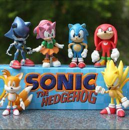 Wholesale Sonic Hedgehog Wholesale - 3int 7cm SEGA sonic the hedgehog Figures toy pvc toy sonic Characters figure toy retail box
