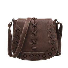 Wholesale Cover Buns - Wholesale- 2016 100% Brand new and Fashion high quality Buns Hollow Woven Shoulder Diagonal Handbags bags handbags women famous brands