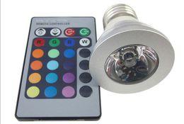 Wholesale Lampe E14 - 3W E27 Farbwechsel RGB LED Licht Lampe Birne 110-220V IR Fernbedienung without memory High Quality Led RGB Bulbs