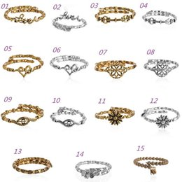 Wholesale Alex Ani Love Wrap - 2015 New Alex&Ani antique silver gold plated simple Heart Love Wrap charms and beads Alex and Ani Bangles beaded luckly bracelet for women