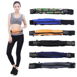 Wholesale Hockey Phone Cases - Outdoor Sports Running Waist Bag Phone Case Pack Belt Fanny for Men Women Jogging Gym Fitness Waist Belt Wallet Pocket