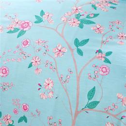Wholesale Romantic Floral Quilts - Wholesale-2015 Wholesale High Quality 3d Bedding Set Jogo De Cama Plaid Romantic Blue Floral Quilts Queen Size for Girls