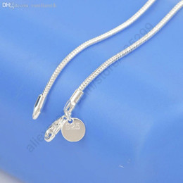 Wholesale Men Jewelry 925 Silver Piece - Wholesale-One Piece Retail Free Shipping 16-24Inch Fashion Charm 925 Sterling Silver Smooth Snake Necklace Chain Jewelry Fit For Man Woman