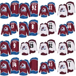 Wholesale Gabriel Landeskog Jersey - 2018 Colorado Avalanche Hockey Jerseys 92 Gabriel Landeskog 29 Nathan MacKinnon 19 Joe Sakic 9 Matt Duchene 1 Semyon Varlamov Jersey