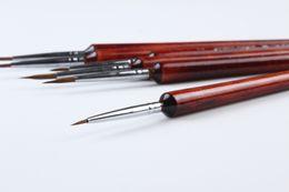 Brosse de portique en Ligne-Gros-6pcs / lot de haute qualité Weasel Hair Liner 6pcs brosses brosse professionnelle ensemble manche court 168-9