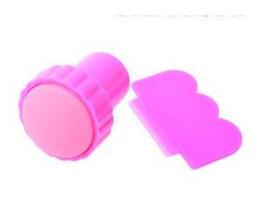 Wholesale Plastic Images - Wholesale DIY Nail Stamper Set Stamping Nail Art Kit Nail Stamp + plastic Scraper knife for Image paint Plate Desig