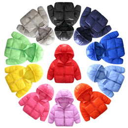 Wholesale Korean Girl Down Jacket - Children's ultra-thin models down jacket new autumn and winter new childrens clothing Korean version of the down jacket boys and girls hood