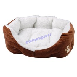 Wholesale Indoor Hand Warmer - Small Soft Indoor Pets Dog Cat Puppy Bed Warm Sofa House Mat Nest Cushion Fleece Free Shipping