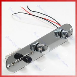 Wholesale Guitar Prewired - Free Shipping Chrome Tele Prewired Control Plate 3 Way Switch For Fender Tele Guitar order<$18no track