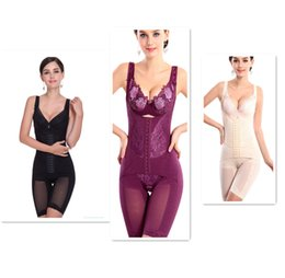 free full body suits Coupons - EPACK M-4XL Women Seamless Full Body Shaper Waist Underbust Cincher Suit Control Firm Tummy Beige Black Purple free drop shipping