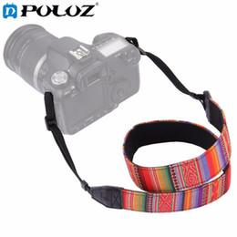 Wholesale Dslr Camera Bag Waterproof - PULUZ Retro Style Double Cotton Yard Shoulder Neck Strap Camera Strap Camera Shoulder Bags Wristband for Canon SLR DSLR Cameras
