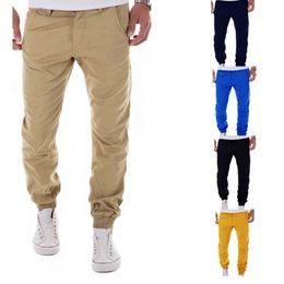 Wholesale Men S Satin Pants - 2017 New Casual Men Pants Slim Pant Straight Trousers Fashion Solid Khaki Black Pants Men Small Foot Trousers Plus Size 3XL