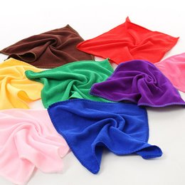 Wholesale Microfiber Wash - Free Shiping Wholesale colorful Towel Soft Auto Car Wash Cloth 25*25cm Microfiber towel kitchen cleaning water absorbent quick dry
