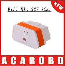 Wholesale Iphone Diagnostic Tools - 2018 Newly Original Vgate WiFi iCar 2 OBDII ELM327 iCar2 Wifi Vgate OBD Diagnostic Tool for IOS IPhone IPad Android PC by Free Shipping