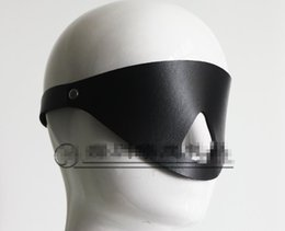 Wholesale Sex Products Blindfold - PU Black Eye Mask BDSM Bondage Masks Blindfold With Nose Hole adult sex toys products HM-BL1017