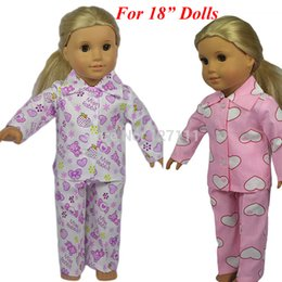 Wholesale 18 American Doll Clothes Wholesale - Wholesale-New style Popular 18 inch American girl doll clothes doll clothes for 18 inch dolls Pajamas doll accessories 1pcs