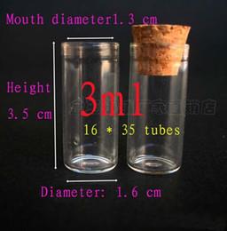Capacité 3 ml (16 * 35 * 13 mm) 300pcs / lot 3 ml flacons en verre pour test de cube, bouteilles en verre, bouteilles de stockage, petites bouteilles avec bouchons en liège ? partir de fabricateur