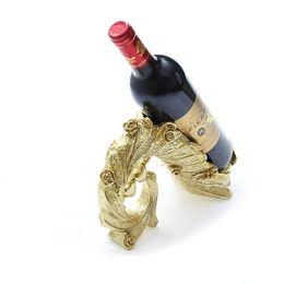 Wholesale High Heels Wine Bottle - Home creative Imitation gold plating High heeled shoes Resin red wine bottle holder Decorative rack Handicrafts