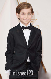Wholesale Ivory Tuxedo For Boys - 2016 Oscar Jacob Tremblay Children Occassion Wear Boys Formal Wear Wedding Tuxedo For Boy's Toddler Formal Suits (Jacket+Pants+Bow Tie) M2