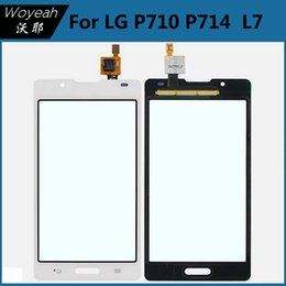 Wholesale Lg L7 Ii - For LG Optimus L7 II P710 P714 Black Touch Screen Panel Digitizer Glass Lens Repair Parts Replacement